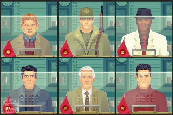 black border characters